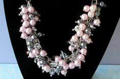 Bridesmaid Jewelry Pink and Gray Pearl and by SeagullSmithJewelry, $35.00