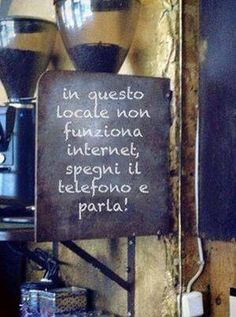 This Cafe's internet is not working. Turn off your phones and talk!--- love it!!
