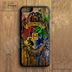 Wood Hogwarts Harry Potter Phone Case For iPhone 6 Plus For iPhone 6 For iPhone 5/5S For iPhone 4/4S For iPhone 5C-5 Colors Available