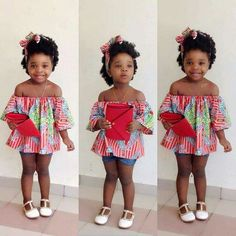 Ankara Styles For Kids; Little Girls And Baby Girls Ankara Styles Ankara Styles For Kids, African Dresses For Kids, African Babies, African Children, African Women, African Print Fashion, African Fashion Dresses, African Outfits, African Attire