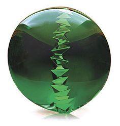 Tom Munsteiner. Imagination, natural green tourmaline (Paraiba). 23 mm x 21 mm. 34.25 cts.