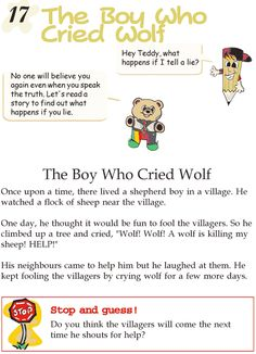 Grade 2 Reading Lesson 17 Fables And Folktales – The Boy Who Cried Wolf
