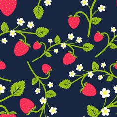 "Strawberry Pattern  Motiv: ""strawberry_3"" (#66749) © Ninani  Design entry in stoffn's strawberry pattern contest in June 2015"