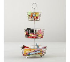 Kids Storage: Three Tier Wire Storage Bin