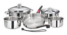 Magma 10 Piece Gourmet Nesting Stainless Steel Cookware Set Magma http://www.amazon.com/dp/B002TV7QD2/ref=cm_sw_r_pi_dp_81Nbub1AF0Z1C