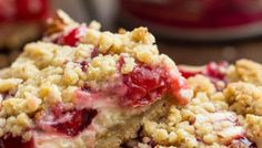 Cherry Pie Sour Cream Crumb Bars