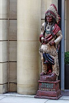 cigar store Indian / http://www.cigarsonlinetoday.com/cigar-store-indian-8/