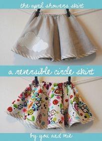 Tutorial: Little girl's reversible circle skirt | Sewing | CraftGossip.com