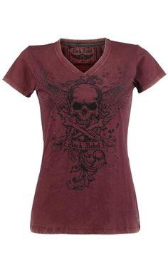 Skull Shirt por Rock Rebel by EMP
