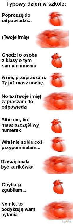 Typowy dzień w szkole Wtf Funny, Funny Cute, Funny Jokes, Funny Photos, Funny Images, Polish Memes, Weekend Humor, Funny Mems, Wtf Moments