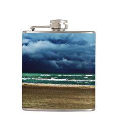 Dark and Stormy Flask #darkandstormy #flask #drinks #photography #beach #waves
