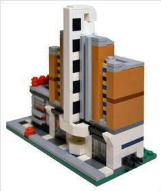 Mini Galaxy Diner and Empire Theater | ReBrick | From LEGO Fan To LEGO Fan