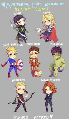 Avengers Chibis I sold at AX! I'm a huge Avengers fan and I'm in love. Avengers Fan Art, Avengers Imagines, Avengers Quotes, Avengers Cast, Marvel Avengers, Iron Man Movie, Avengers Pictures, Avengers Wallpaper, Kawaii Chibi