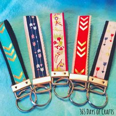 Learn how make a crafty key chain. Fast and easy sewing project.