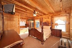 Cherished Memories cabin rental in Pigeon Forge, TN. This beautiful cabin is located within minutes of the main parkway. The master suite with a four post queen bed also offers a sauna and jacuzzi tub right in the room. The cabin also has a BBQ grill, fireplace, spacious floorplan, pool table, and washer/dryer.  Come and make your memories, Cherished Memories.