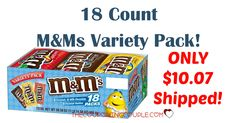 HOT BUY!! Get an 18 count M&Ms Variety Pack for only $10.07 shipped! Stock up on treats! About 56¢ per bag - less than half the price at the grocery store!  Click the link below to get all of the details ► http://www.thecouponingcouple.com/mms-variety-pack-18-count-for-10-43-shipped/ #Coupons #Couponing #CouponCommunity  Visit us at http://www.thecouponingcouple.com for more great posts!