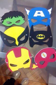 Resultado de imagen para mascaras de superheroes en goma eva