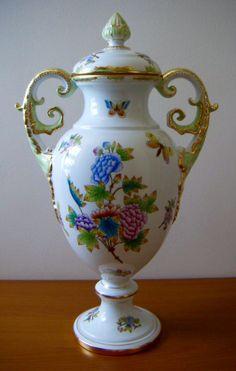 Herend Porcelain Lidded Vase