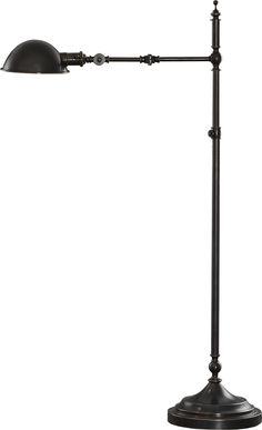 Robert Abbey Ant Bee Swing-Arm Pharmacy Floor Lamp shown in Deep Patina Bronze Pharmacy Floor Lamp, Industrial Floor Lamps, Contemporary Floor Lamps, High Quality Furniture, Interior Design Services, Home Lighting, Ants, Home Accessories, Bee