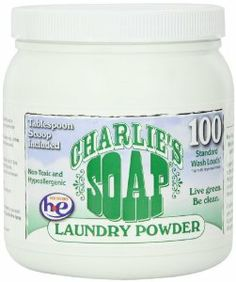 Supposed to be a great and more natural laundry soap that works great at getting out poop stains via TheElliotHomestead