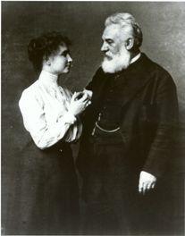 Helen Keller with Dr. Alexander Graham Bell