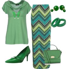 green by rajma-dee-johnson on Polyvore featuring polyvore fashion style Jei O' Boohoo Nine West Accessorize Bling Jewelry