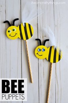 Cute and easy DIY Bee Puppets for kids. Fun insect craft for kids, spring kids craft, summer kids craft and bee craft for kids. Cute and easy DIY Bee Puppets for kids. Fun insect craft for kids, spring kids craft, summer kids craft and bee craft for kids. Bee Crafts For Kids, Spring Crafts For Kids, Easy Diy Crafts, Toddler Crafts, Creative Crafts, Preschool Crafts, Diy For Kids, Fun Crafts, Arts And Crafts
