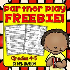 FREE partner play for 4th and 5th graders! This is a perfect fluency-building activity to add to your Daily 5 reading centers!