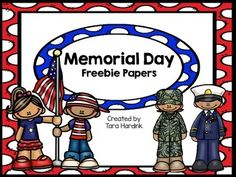 Memorial DayA fun way for your students to work on writing and learn about Memorial Day. This packet includes:* bubble maps versions)* writing papers with varied lines versions)* roll and cover - adding doublesThank you for looking! Writing Papers, Work On Writing, Preschool Lesson Plans, Preschool Activities, American Legion Auxiliary, Camping Crafts, English Lessons, Teacher Newsletter, Public School