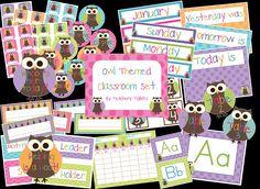 Owl Classroom Ideas | Ms. Kerri and her Krazy Kindergarten: One Year Blogiversary ...