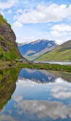The Norwegain fjords from Flåm