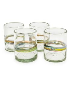 Look what I found on #zulily! Rainbow Recycled Glass Tumbler - Set of Four by Bambeco #zulilyfinds