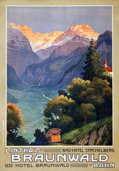 Winter E. - Linthal - Braunwald Bahn