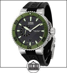Oris automático negro con caja de acero inoxidable de goma en color negro para hombre reloj 743-7673-4157  ✿ Relojes para hombre - (Lujo) ✿