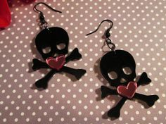 Lasting LoveBlack and Pink Skull Heart by IMPARTANDACCESSORIES, $10.95