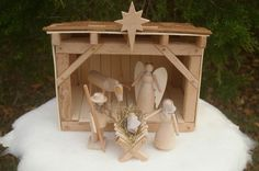 Wooden Folk Creche