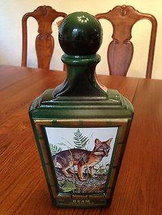 Jim Beam Decanter Bottle Gray Fox Lockhart Wildlife Series   eBay
