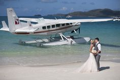A recent ceremony on Whitehaven Beach, with a jaw dropping arrival by Seaplane