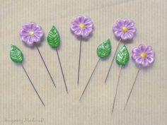 Set of 8 sewing pins Sewing Pin Topper by ImaginaryHandicraft