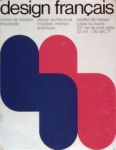 Centre Pompidou Virtuel - Design français - Affiche 1971