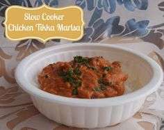 Super easy slow cooker chicken tikka marsala!