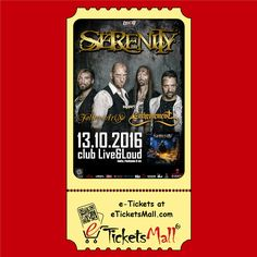 FALLEN ARISE from Greece will be special guests at the concert of SERENITY and ENTHRONEMENT https://www.eticketsmall.com/news_info.php?nID=176