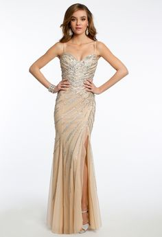 Sequin Beaded Dress with Side Slit from Camille La Vie and Group USA