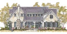 Find your dream french-country style house plan such as Plan which is a 3459 sq ft, 4 bed, 3 bath home with 3 garage stalls from Monster House Plans. French Country House Plans, French Country Cottage, French Country Style, European Style, Romantic Cottage, Country Houses, Family House Plans, Cottage House Plans, House Floor Plans