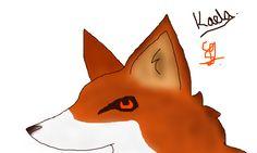 A FOX I DREW WITH GEORGY