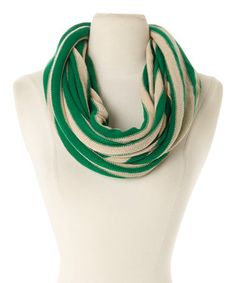 Love Love Love Love this Green Stripe Infinity Scarf by ViVi Designs on #zulily! #zulilyfinds