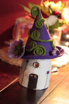 Filzlampe FlowerEulen von Happy Falt Company - Kreative Link-Party #29 - Kreativwerkstatt-Fleury