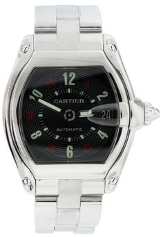 Cartier Roadster Stainless Steel Casino Dial Automatic Mens Watch