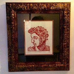 #markoconnellstudio block print framed and installed.