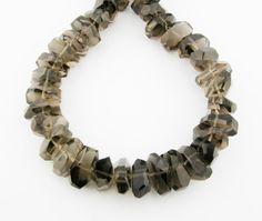 8 7x20mm Chunky Smoky Quartz Faceted by FancyGemsandFindings, $25.99 Smoky Quartz, Beaded Necklace, Gems, Bracelets, Awesome, Jewelry, Beaded Collar, Jewlery, Bijoux